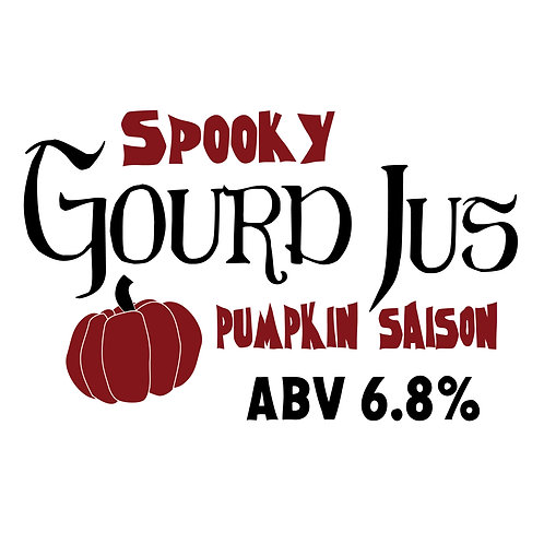 Spooky Gourd Jus Pumpkin Saison 16oz can