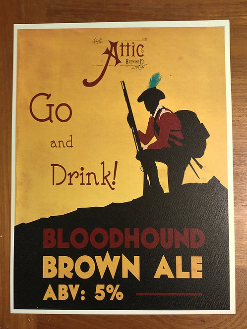 Bloodhound Brown Ale Poster