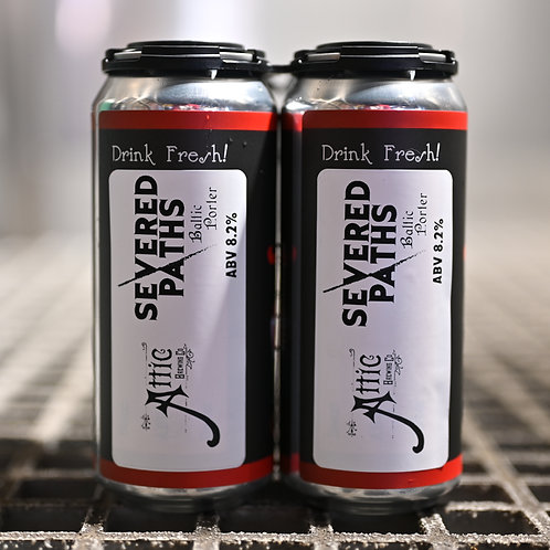 Severed Paths Baltic Porter 16oz can 4-PACK