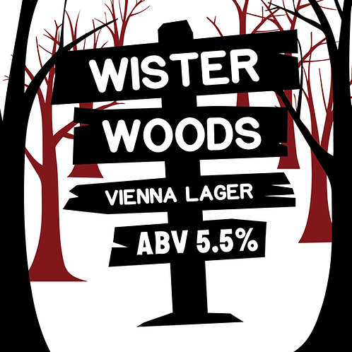 Wister Woods Vienna Lager 16oz can