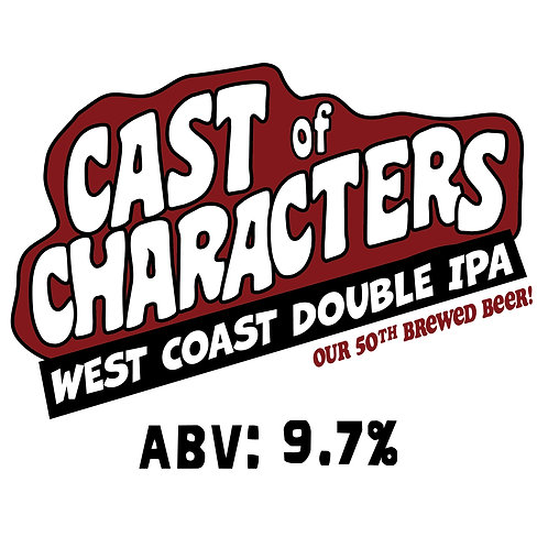 Cast of Characters West Coast Double IPA 16oz can