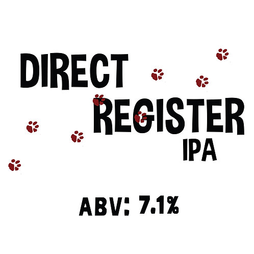 Direct Register IPA 16oz can