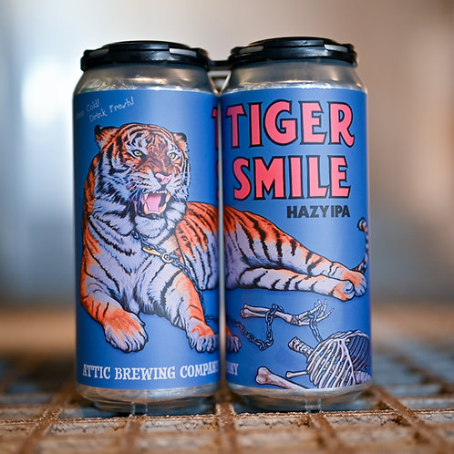 Tiger Smile Hazy IPA 16oz can 4-PACK