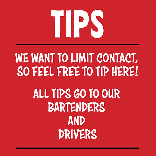 Tips for bartenders and drivers