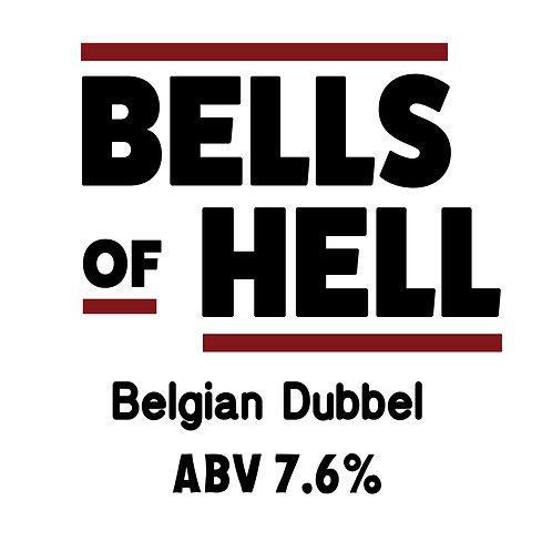 Bells of Hell Belgian Dubbel 16oz can