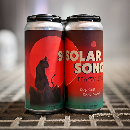 Solar Song Hazy IPA 16oz can 4 PACK