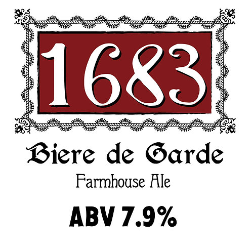 1683 Biere de Garde Farmhouse Ale 16oz can