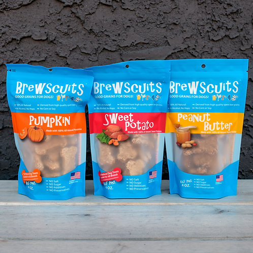 Small Spent Grain Dog Treats  4oz package