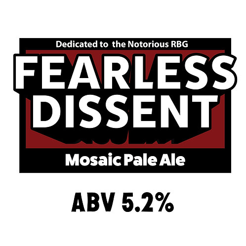 Fearless Dissent Mosaic Pale Ale 16oz can