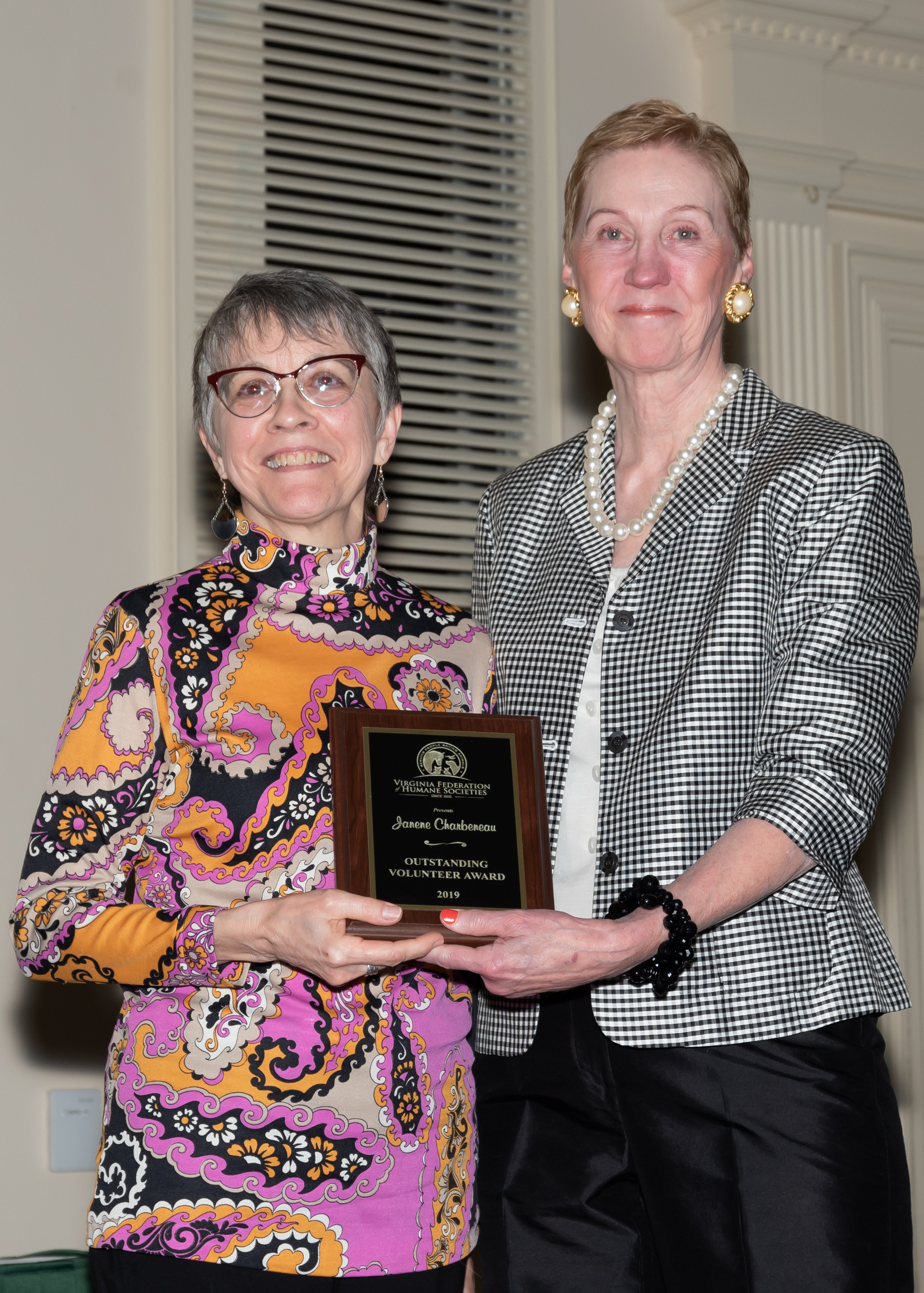 2019 VFHS Outstanding Volunteer Award