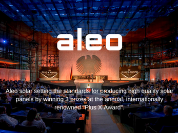 Aleo solar wins innovation awards for brand quality.