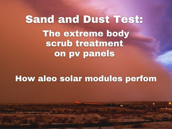 The extreme body scrub treatment on aleo pv panels.
