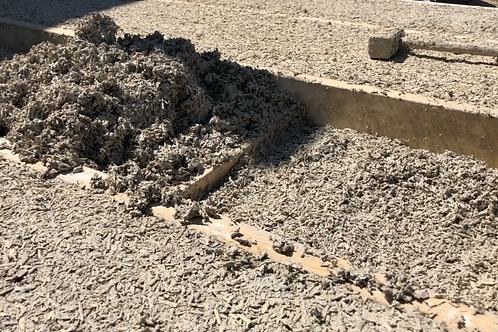 Hampa ved / skärvor för bygg
