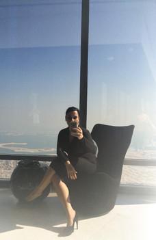 At the Burj Khalifa, Dubai, UAE, 2016