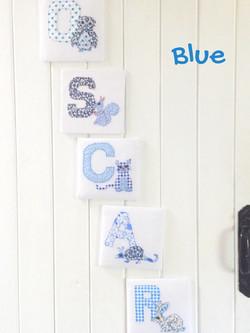 Fabric Animal Alphabet Name in Blue