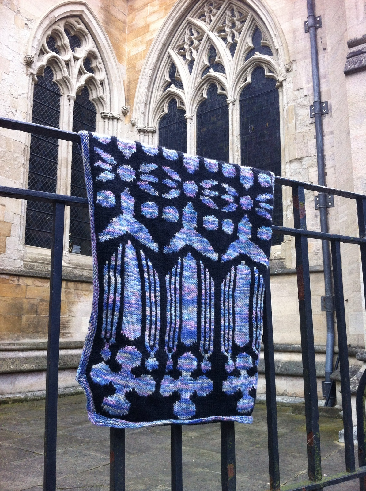 Stained Glass Window Shawl
