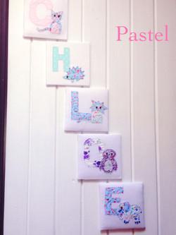 Fabric Animal Alphabet Name - Pastel