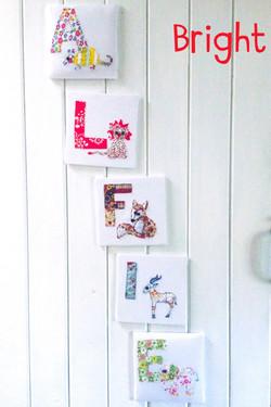 Fabric Animal Alphabet Name - Bright