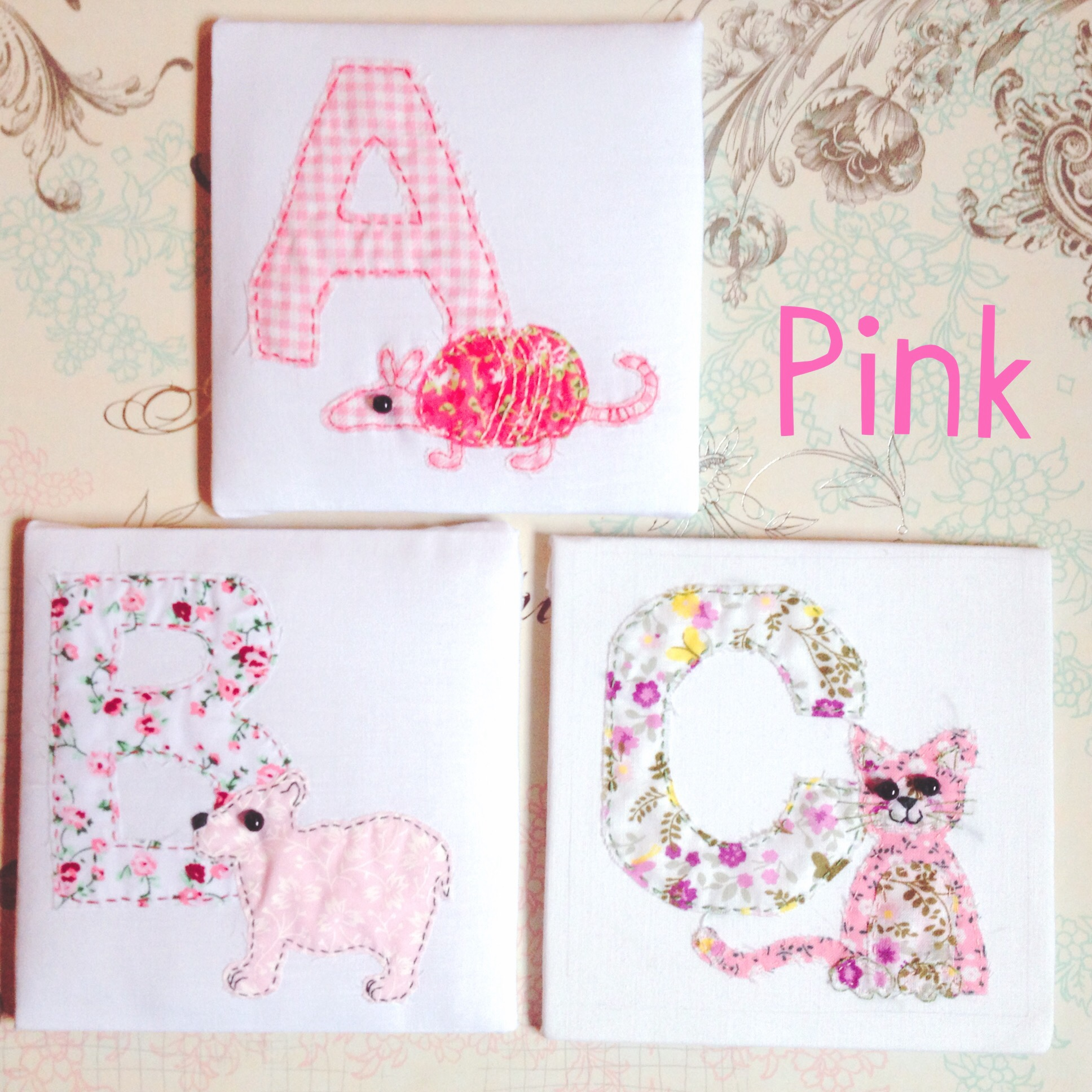 Fabric Animal Alphabet - Pink