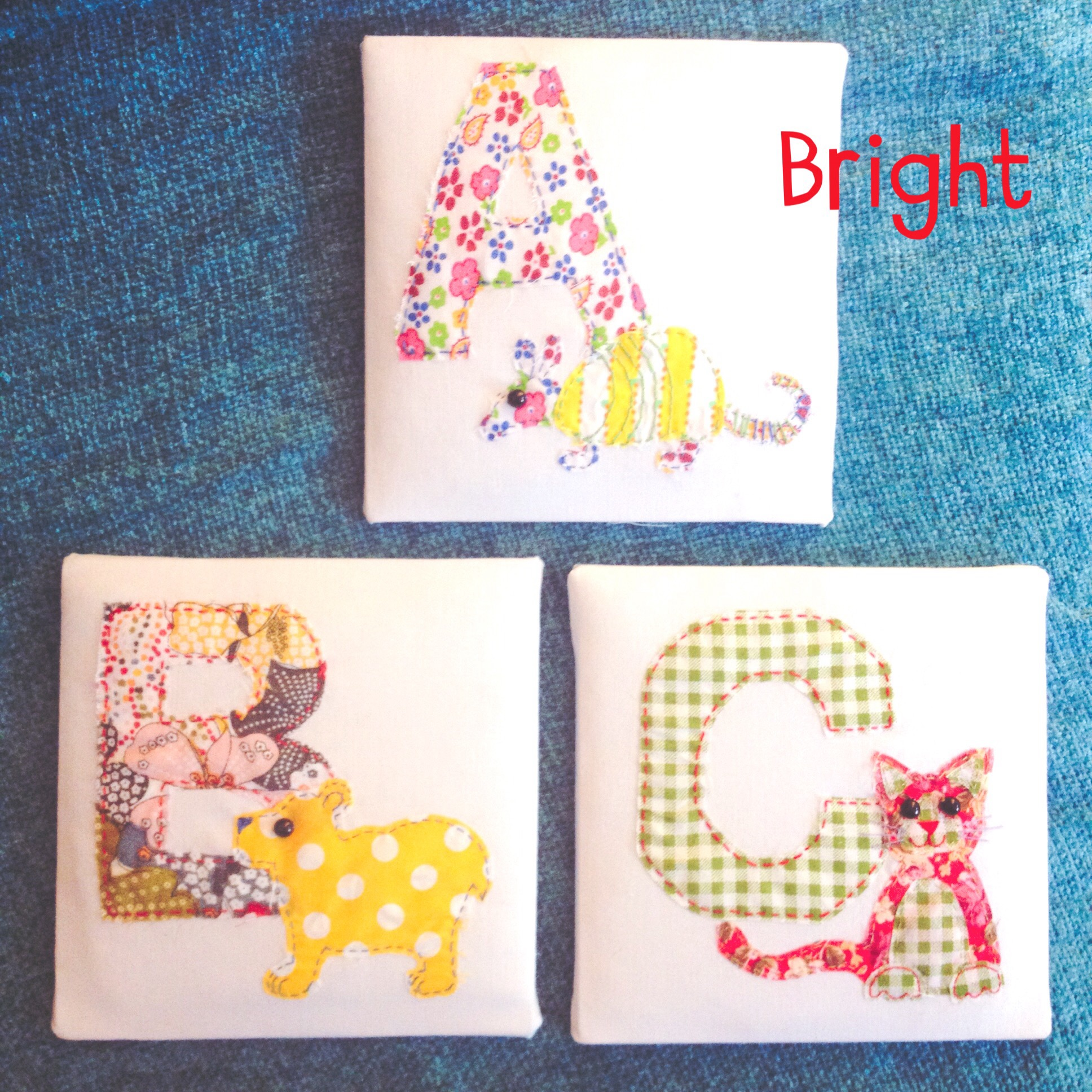 Fabric Animal Alphabet - Bright