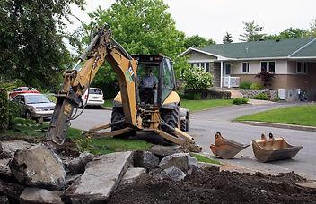 Excavation démolition
