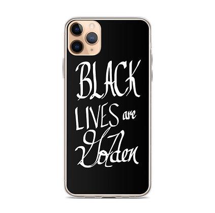 Black Lives are Golden Phone Case