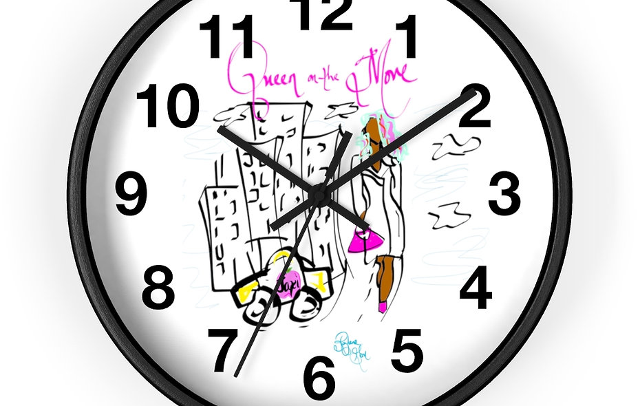 """""""Queen on the Move: Time 2 Go Clock"""""""