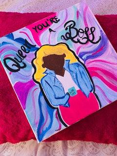 Queen Gem on Canvas