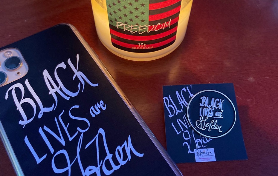 Black Lives are Golden Phone Case