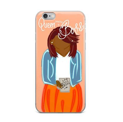 """Queen You're a BOSS"" iPhone Case [Sandy]"