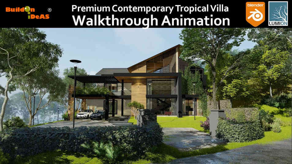 Premium Contemporary Tropical Villa Walkthrough Animation   Blender 2.91 and Lumion 11