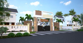 A awesome villa project done for Paul Antony Builders - 3D done by Buildon Ideas
