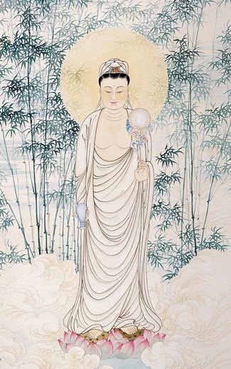 江曉航1991年觀音像,藉創作紀錄台灣重要宗教事
