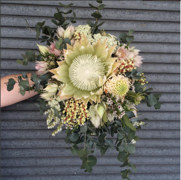 Wedding _ Native.White Protea