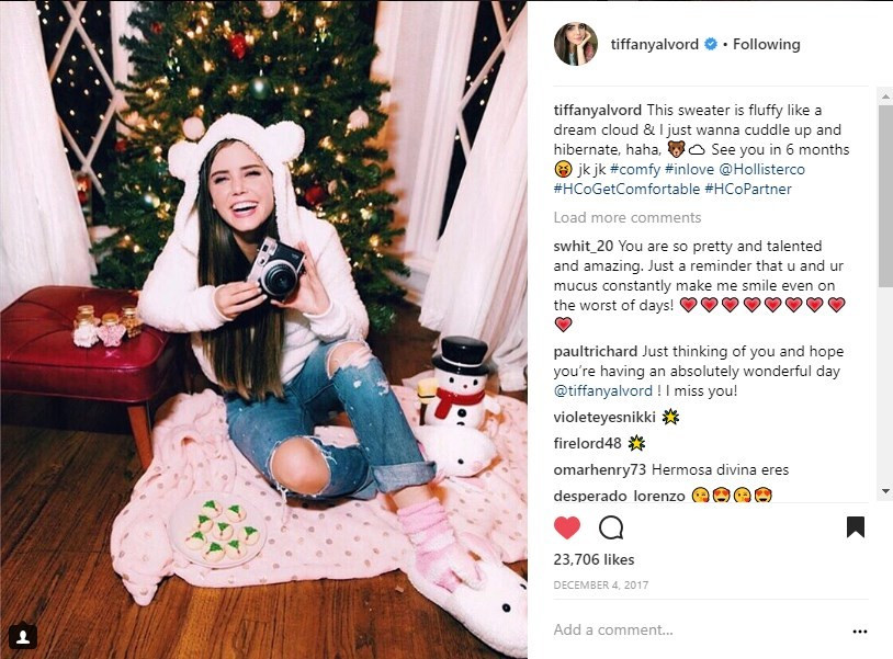 Hollister #HCoGetComfortable Tiffany Alvord Social Media Influencer Campaign