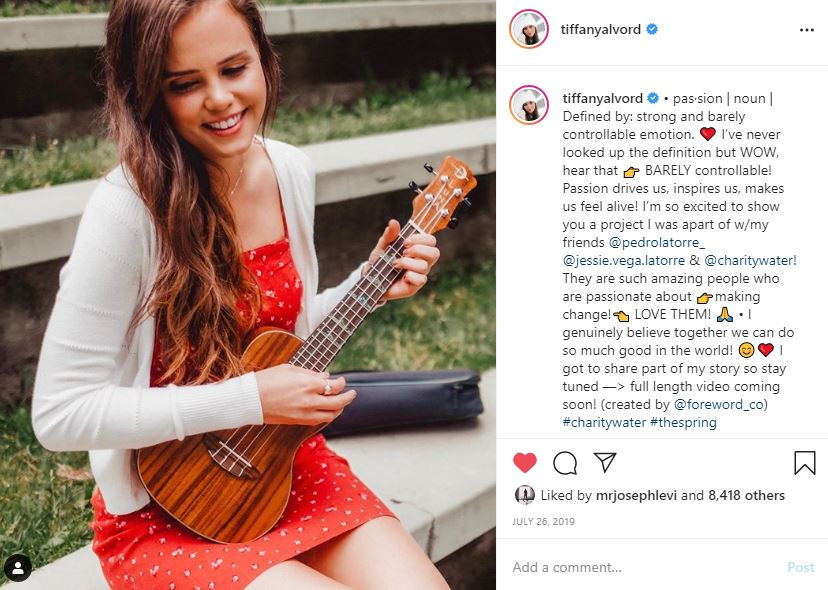 Charity Water Tiffany Alvord Social Media Influencer Campaign
