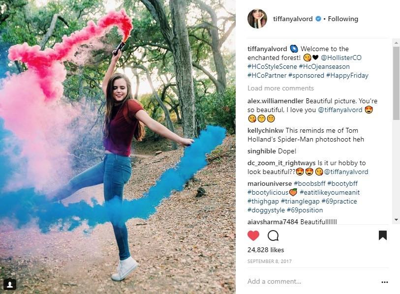 Hollister #HCoStyleScene Tiffany Alvord Social Media Influencer Campaign