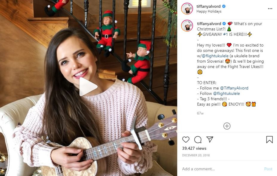 Flight Ukulele Giveaway Tiffany Alvord Social Media Influencer Campaign