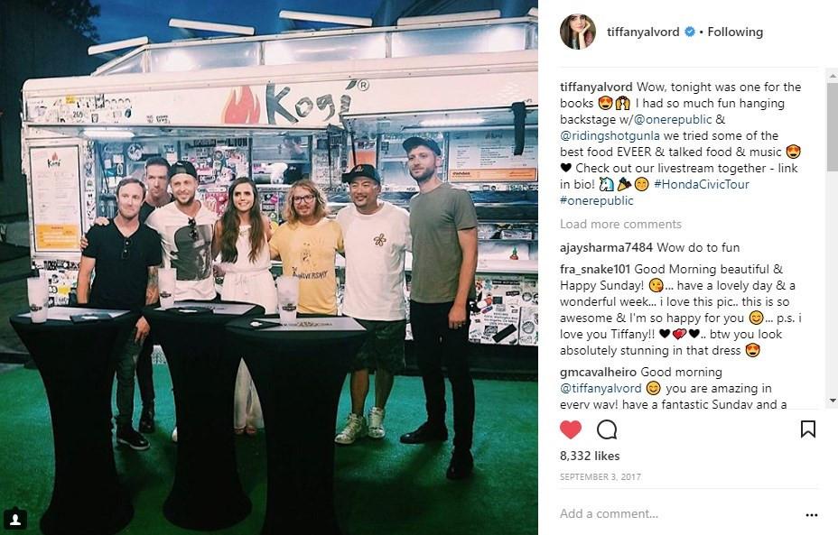 Honda Civic Tour - One Republic Tiffany Alvord Social Media Influencer Campaign