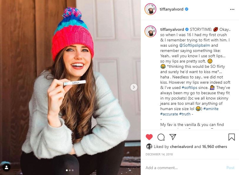 Softlips Lip Balm Tiffany Alvord Social Media Infuencer Campaign