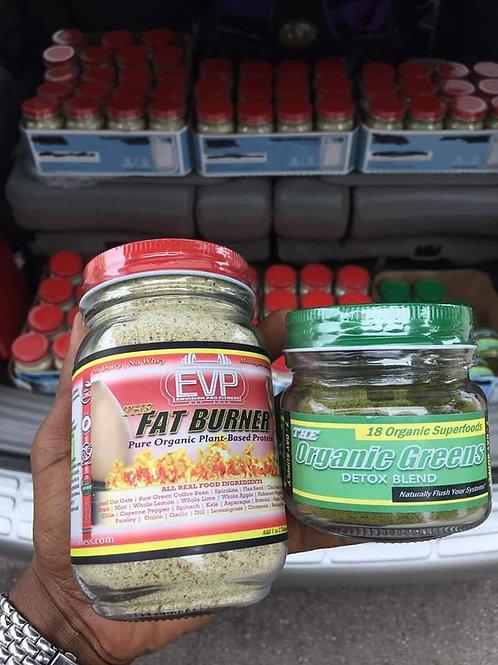 EVP Organic Greens and The Fat Burner Organic Protein