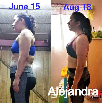 Before and after Alejandra (no ad print)