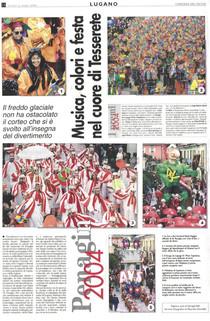 Carnevale Tesserete corteo 2004 articolo