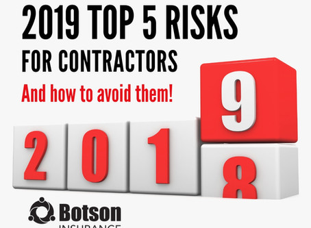 Top 5 Insurance Concerns for Business Owners and Contractors in 2019