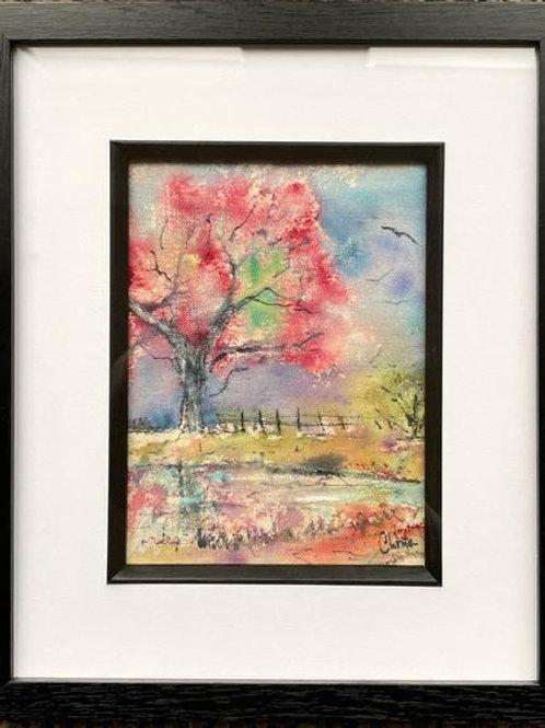 Blossom Tree by the Pond