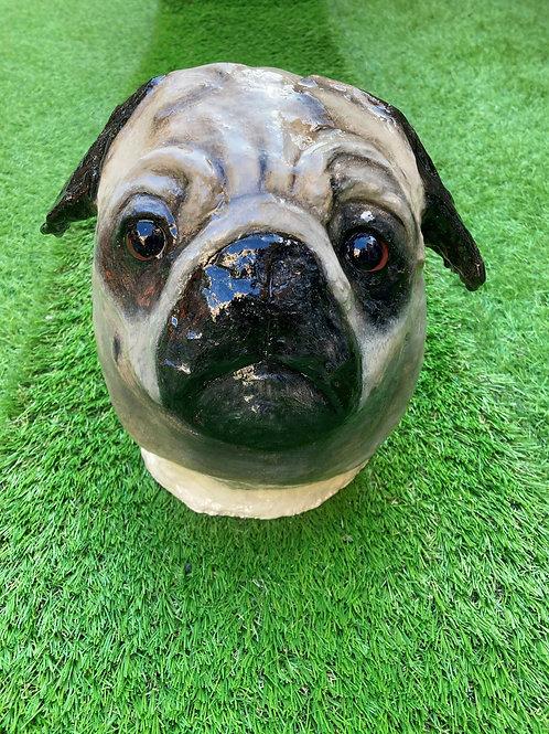 Sculpted Pug Head