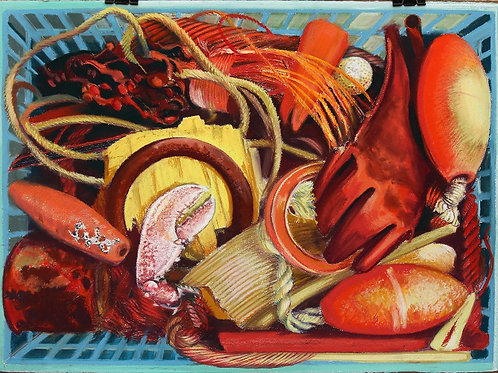 Sea Basket, Orange Treasures