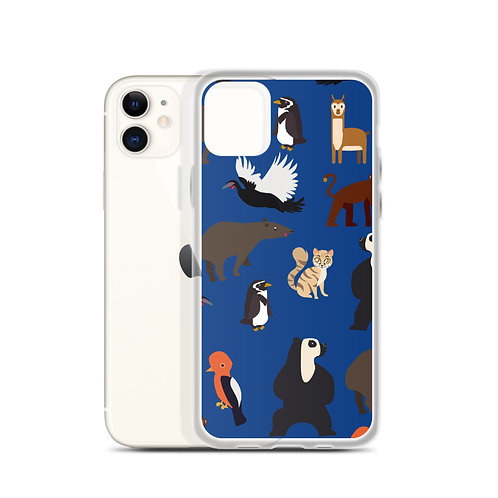Endangered Species iPhone Blue Case