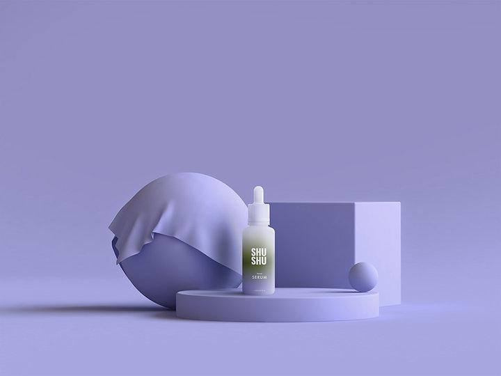 Brand Bottle of Serum