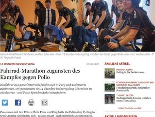 Radsport Schwödiauer beim 12h Indoor Cycling powered by Rotary Club Enns